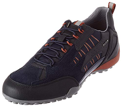 Geox Mens Uomo Snake A Sneaker, Navy,42 EU