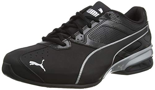 PUMA Tazon 6 FM Black Silver, Chaussures de Running Compétition Homme, Noir, 43 EU