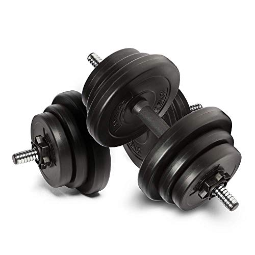 Anchor's Adjustable 20kg Dumbbells Weights set for Men Women, Dumbbell hand