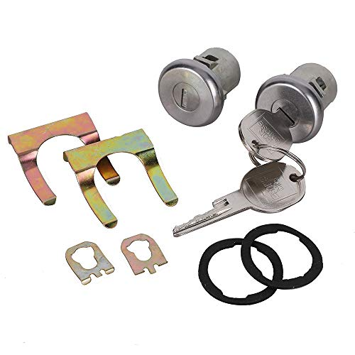 Door Lock Cylinder Motor Set Front Left Front Right for Chevrolet Truck C10 C20 C30 GMC 1500 2500 3500 1965-1987 SUV Blazer Jimmy Suburban Van Buick Apollo Century Electra LeSabre Pontiac GMC & more