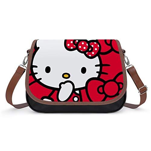 Bolso de piel sintética para mujer, diseño de Hello Kitty Red