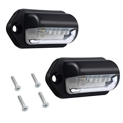 Bobin Luces de Placa de Número Led Luces de Matrícula Lámparas Traseras Universal 12V 24V para Coche Remolque Vehículo Vehículo Ute Camioneta Caravana Bote
