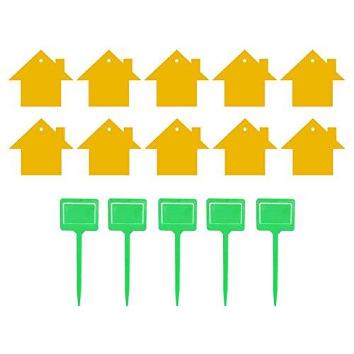 Klebrige Insektenplatte, doppelseitige gelbe klebrige Fallen, klebrige Fliegenfalle Ungiftige doppelseitige Insektenplatte zur Erfassung der Insektenbekämpfung durch fliegende Pflanzen (15 Stück)