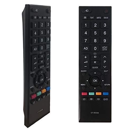 FOXRMT Ersatz Fernbedienung Toshiba CT-90326 für Fernbedienung Toshiba TV, kompatibel mit Fernbedienung für Toshiba CT-90326 CT-90325