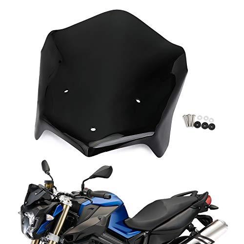 Gu3Je Motorrad Windabweiser for BMW F800R F 800 R 2015-2020 2019 2018 2017 ABS-Kunststoff Motorrad Windschutzscheibe Windschutz Motorrad Windschutz (Color : Black)