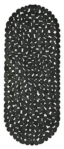 Circul Badewannenmatte 99 x 39 cm schwarz Steinoptik modern