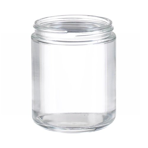 Wheaton W216921 Clear Glass 8oz Straight Sided Jar, without 70-400 White Polypropylene Poly-Vinyl Lined Screw Cap (Case of 24)