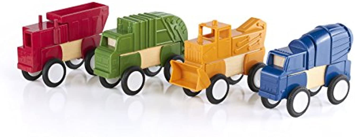 Guidecraft Block Mates - Construction Vehicles G7605 by Guidecraft