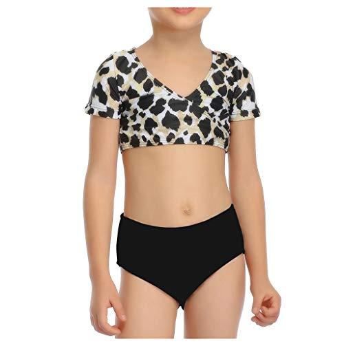 Brizz Badpak voor moeder en dochter, tweedelige badpak met luipaardmotief, passend strandpak, sexy slim tops + triangelbikiniset mode voor ouders en kinderen