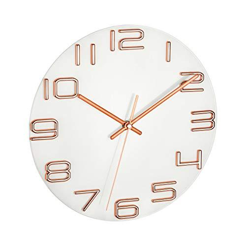 TFA Dostmann Design - Reloj de Pared sin Marco con números de Color Cobre, plástico, Cobre, 325 x 55 x 315 mm