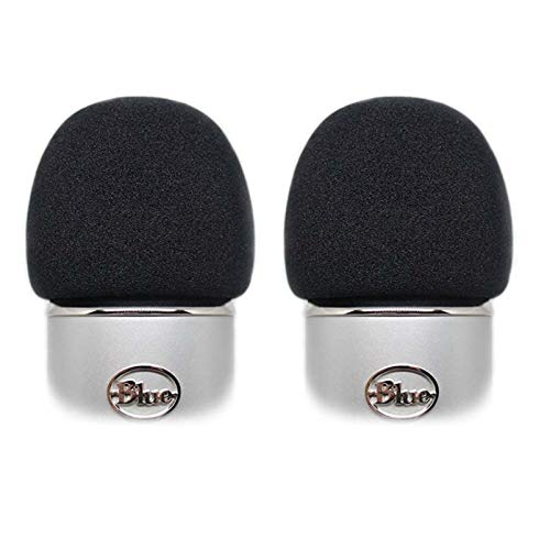 2pcs Microphone Foam Cover Compatible with Blue Yeti & Blue Yeti Pro Professional Mic Windscreen Wind Cover Pop Filter Noise Reduction Made by Quality Sponge