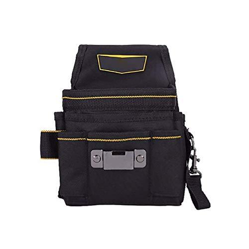 Einstellbarer Werkzeuggürtel 18 Funktions Tasche Leinwand Tool Bag große Kapazitäts-Werkzeug-Speicher-Beutel-Werkzeug Schürze Professionelle Elektriker Wartung (Farbe: Schwarz, Größe: 15x4x22cm) jszzz
