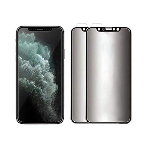 Ceramic Privacy Soft Film Compatible with iPhone 11 12 xs xr 6 7 8, privacy screen protector Full Coverage Anti Spy 2pcs Matte black IPHONE 12PROMAX black