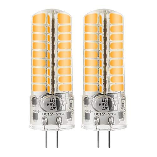 MENGS 2 Stück G4 6W LED Lampe Kaltweiß 6500K AC/DC 12V 72x5730 SMD Mit Silikon Mantel