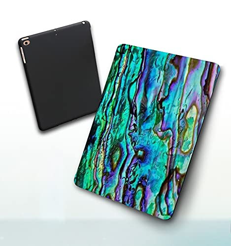Funda para iPad 9,7 Pulgadas, 2018/2017 Modelo, 6ª / 5ª generación,Faux Abalone Pattern Digital Print Smart Leather Stand Cover with Auto Wake/Sleep