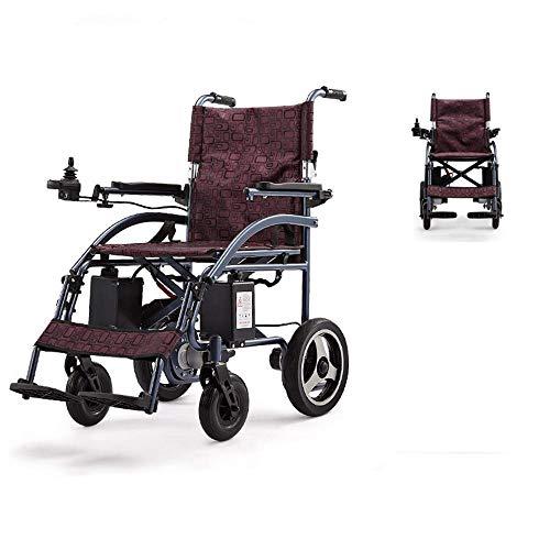 WXDP Silla de rehabilitación médica autopropulsada para personas mayores, ancianas, eléctrica, plegable y ligera, motorizada de energía eléctrica, Mobili