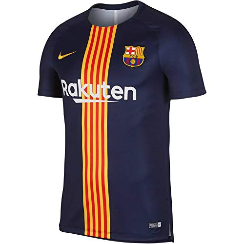 Nike Men's Soccer F.C. Barcelona Dri-Fit Squad Training Top (Medium)