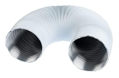 Weiß Alu Ø 120mm / 1.5 m Flexrohr Alurohr Flexschlauch Schlauch Aluflexschlauch