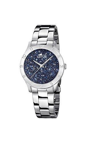 Lotus Watches Reloj Análogo clásico para Mujer de Cuarzo con Correa en Acero Inoxidable 18569/2