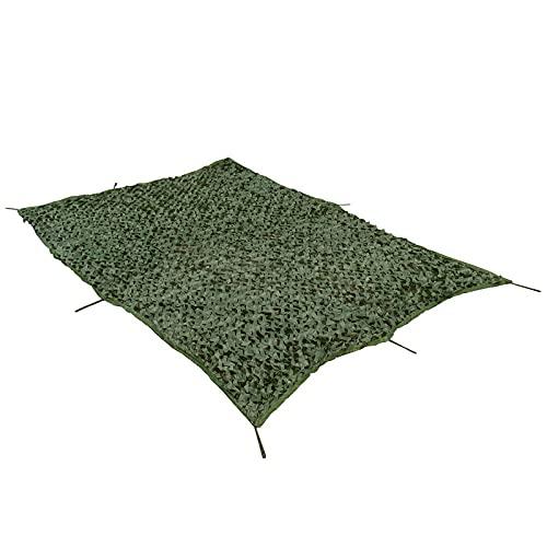 Red de camuflaje de camuflaje del ejército, arpillera de camuflaje para ciervos, malla de camuflaje, para redes de carga, toldo de barco con mosquitero (tamaño: 1,5 x 3 m, color: verde militar)