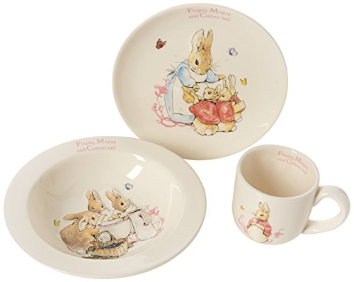 Beatrix Potter F M C Tail 3 Pc Nursery Set, Tableware, Bunt, 0.1 x 0.1 x 1.85 cm