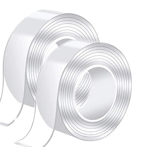 魔法テープ 両面テープ はがせる 強力粘着 2m×2 防水 耐熱 強力 滑り止め 家具 防災 水洗い可能 多用途 2個セット