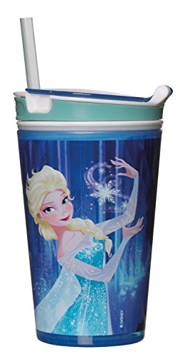 Broszio 1709 - Trinkbecher, Snacky Magic Kids Frozen, Elsa, blau