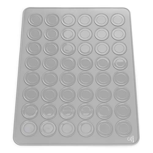 Backefix Macarons Backmatte (2020) formschön und antihaftend Macarons backen - Schadstofffrei aus Silikon für Makronen und gelungene französische Macarons, Silikonbackmatte Ø 3,8cm