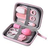 Mikiya 8 in 1 Baby-Grooming Kit Wesentlichen Baby Care Maniküre-Set Kleinkind-Nagel-Haar Daily Care Kit Nagelzangen Baby-Pflege Schönheit Nagelpflege