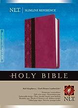 Slimline Reference Bible NLT, TuTone (Red Letter, LeatherLike, Rich Raspberry/Brown/Dark Brown)