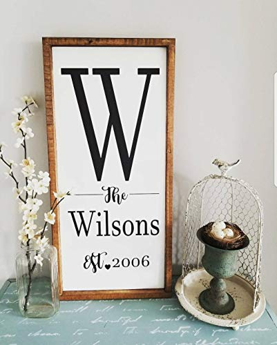 Letrero de nombre familiar, letrero de madera personalizado, letrero de madera, cartel de regalo, para mujer, cartel personalizado, cartel de boda, cartel familiar personalizado