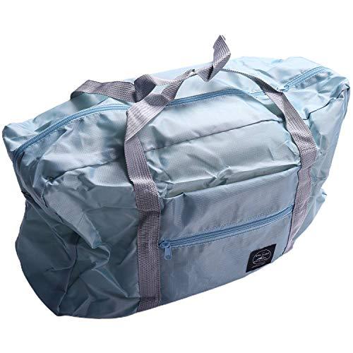 Gaoominy Multifunction Large Capacity Casual Folding Waterproof Luggage Storage Bags Suitcase Travel Pouch Handbag Organizer Tote Bag Blue