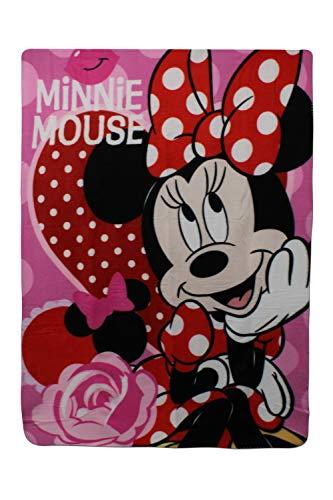SETINO 720-237 Disney Minnie Maus Fleece Decke Kuscheldecke Tagesdecke 100x140cm