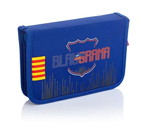 FC Barcelona Estuche sin Accesorios, 2 Compartimentos, FC-235 Barcelona Barca Fan 7...