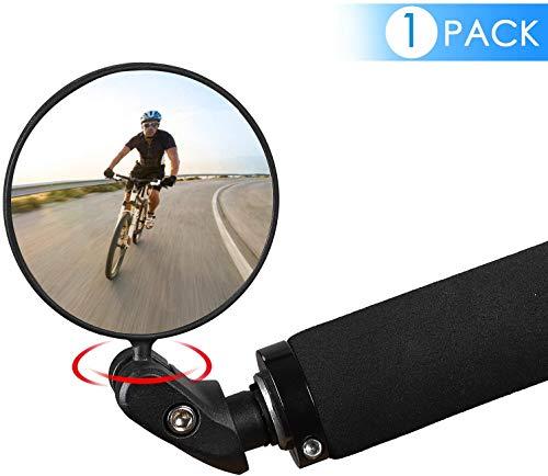 Fahrradrückspiegel,Fahrradspiegel Bar End, HD Convex Safe Rückspiegel Fahrradspiegel, 360°Drehung Einstellbarer Weitwinkel Universalspiegel für Mountainbikes Rennräder Fahrrad E Bike Mountainbikes (1)