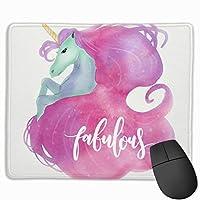 かわいいピンクのユニコーン マウスパッド 25×30 大判 ノンスリップ 防水 ゲーミング おしゃれ マウスの精密度を上がる