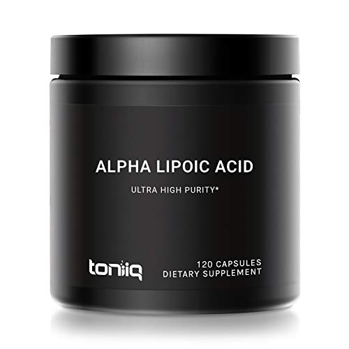 Ultra High Strength Alpha Lipoic Acid Capsules - 1000mg Concentrated Formula - 99%+ USP Standard Highly Purified and Bioavailable - 120 Capsules ALA Supplement