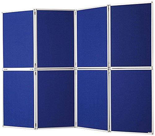 magnetoplan 1101016 Raumteiler Filz, 8-teilig Blau