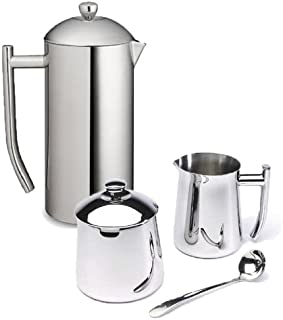Frieling Ultimo 36 Oz Stainless Steel French Press, Cream & Sugar Bowl Gift Set