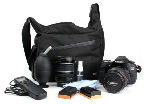 DURAGADGET Mochila Bandolera con Compartimentos para Cámara Nikon FM10 Bandolera Al Agua