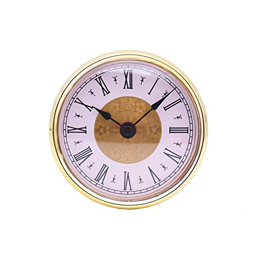 MoreChioce 80 mm (3-1/8 Zoll) Quarz Uhrwerk, Quarzuhr Einfügen mit Römische Ziffer Einsteckuhrwerk Quarzwerk Inserts Einbau-Uhr