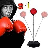 【3-5日間お届けします】サンドバッグ パンチング パンチングボール ボクシング 格闘技 打撃練習 練習用ボール トレーニング ストレス発散 軽量 フィットネス シェイプアップ ボクシング 組立簡単 (赤 い)