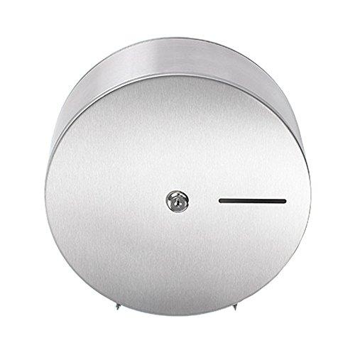 Sanixa EMA845-SS Qualitäts Toilettenpapier-Spender für 1 Jumbo Rollen Wand-Montage Edelstahl rostfrei WC Papierrollenhalter Halter