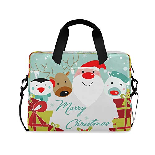 Christmas Holiday Laptop Bag case Girls School Crossbody Office