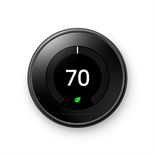 Google Nest Learning Thermostat - Programmable Smart Thermostat for Home - 3rd Generation Nest Thermostat - Works with Alexa - Mirror Black