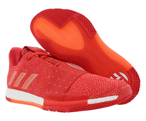 adidas Men's Harden Vol. 3 Basketball Shoes (13 M US) Coral/White