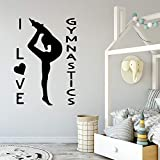 zqyjhkou Mouse Hearts Vinyl Wall Sticker for Kids Room Decoration Personalized Girl Name Wall Decal...