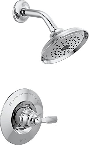 Faucet Woodhurst 14 Series Single-Handle Shower Trim Kit, Shower Faucet with Single-Spray Touch-Clean Shower Head, Chrome  (Valve Not Included) - Delta T14232