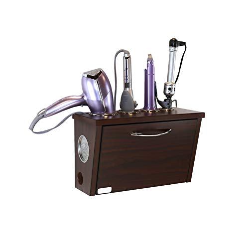 POJJO - Curling Iron, Blow Dryer, and Flat Iron Holder - Wall Mount (Java)