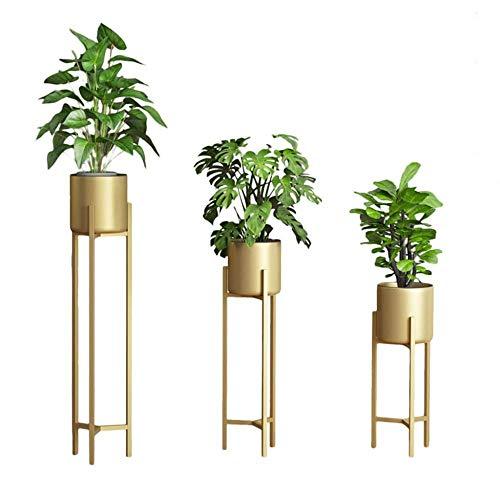 Plant Stand Set van 3-delige Bloemenrek met Hoge Metalen Stand Tuinvitrine voor Plant Pots Houder Rek Ondersteuning voor Tuin Patio Balkon Woonkamer